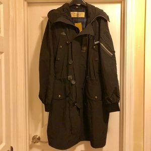Buberry hooded parka coat